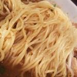 28615594 - 小麦の風味が豊かでプツンとと歯切れの良い食感の中細ストレート麺