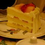 28616716 - いちごとマンゴーのショートケーキ(2014.06月)