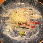 岩さき - お造り (天然の鯛 と グジ) (2014/06)