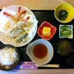 懐石一の瀬 - 海老の天ぷら膳  1760円(税込)