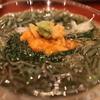 味楽 にしの - 料理写真:長芋素麺とジュン菜とモロヘイヤの冷し鉢