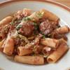 チャッピーノ - 料理写真:もち豚肩ロース肉のシチリア唐辛子煮込み リガトーニ