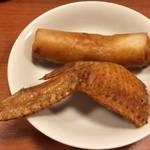 28698996 - 揚げ物  春巻と手羽餃子
