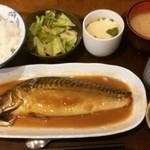 割烹 美乃 - サバの味噌煮¥800