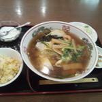 翠園 - 五目タンメンセット750円だよ