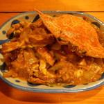タイ料理ハウス ピサヌローク - プーポンカリー(カニカレー炒め1300円)