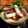 IUKI - 料理写真:トウモロコシのムースと穴子の白焼き