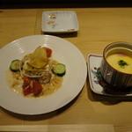 たつみ寿司 - バター掛け茶わん蒸し