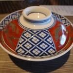 百名伽藍 - 煮ものはラフテーの温野菜添え。