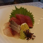 百名伽藍 - 本日の海鮮二種盛り。