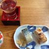 玉川 - 料理写真:バッテラ、穴子寿司と、磯自慢の冷酒