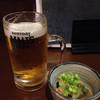 らくだの台所 - 料理写真:生ビールとお通し