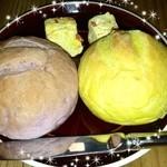 28786950 - 紅芋とカボチャの自家製パン・人参バター添え