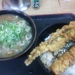28789095 - ぼっかけカレーそば、穴子&竹輪天丼