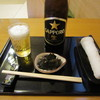 手打そば恋由 - 料理写真:瓶ビール・お通し