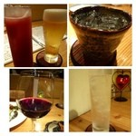 市成 - ◆「ビール」「カシスオレンジ」「問わず語らず名もなき焼酎(芋)」「モスコミュール」「赤ワイン」