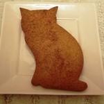 菓子工房ルスルス - これは巨大ネコクッキー。 ちょっとショウガの味がしました。