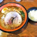 麺屋 一本気 - みそらー麺・めんま & 半ライス(2014年7月)
