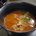 鶏王けいすけ - ココアのつけ麺 とま鶏白湯~☆