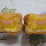 清月堂 - ミルク餡に苺ミルクチョコが入っています。