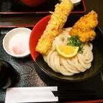 極楽うどん Ah-麺 - 竹鶏玉ぶっかけ