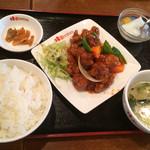 桂園 - ランチに酢豚定食