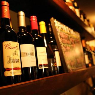 ワインは30種類以上揃えてます★