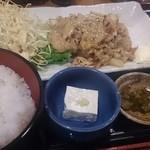 てけてけ - 生姜焼き定食