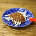 餃子荘 ムロ - お通し (葱味噌) (2014/06)