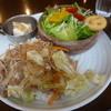 Cafe Dual - 料理写真:プレートランチB「豚肉と野菜の塩ダレ炒め」