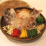 聘珍樓 - 鳳城鮮魚滑 (駿河湾産真鯛の広東式刺身仕立て)