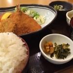 28883624 - 鯵フライ&メンチカツ御前(780円)