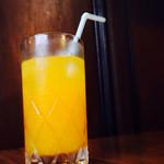 万定フルーツパーラー - オレンヂジュース
