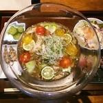 やさい家めい - 梅風味蓴菜さっぱりとろとろ素麺♡お野菜寿司つき♪
