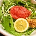 松阪牛麺 - 松坂牛麺(出汁をかける前)