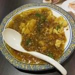 バーミヤン - 料理写真:ニラと玉子の挽肉餡かけ(399円)