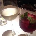 ワインバー&レストラン ブルディガラ - カシスモヒートとリースリング