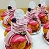パティスリー ポンデラルマ - 料理写真:新作、「サントノーレ・プリンセス」カシスのサントノーレ。アクセントにオレンジを忍ばせて。