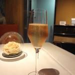 レストラン・セン - 今日はロゼのシャンパーニュで。