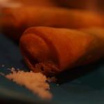 ツキノワ料理店 - エビとアボカドの揚げ春巻