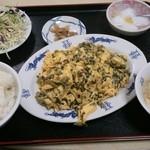 金龍 - 玉子と高菜炒め¥750
