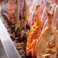 究極の炭火焼き魚「原始焼き」