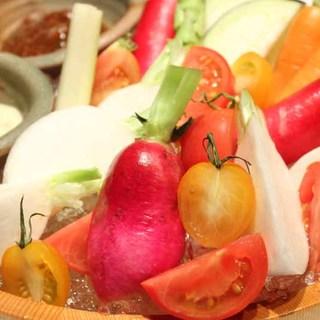 新鮮な野菜もこだわっています