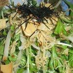 一砂 - 大根と水菜のジャコぽん酢サラダ