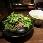 蕎麦コンボワタナベ - 20140717 パクチーソバ