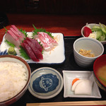 ウオツネ - 刺身定食 1000円 2014.7