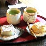 茶房 暖暖 - デザートのわらび餅