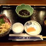 新生 - 三色丼(生ウニ・ブリ・イクラ)2,300円