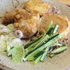 や乃家 - 料理写真:北海道産ホタテと無農薬玉ねぎの、冷やし天ぷらそば980円