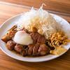 HONMACHI 豚テキ - 料理写真:シン玉(200g) 「厚切り豚テキ シングル(200g)+温泉玉子」の略※うす切りも可